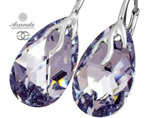 SWAROVSKI DECORATIVE EARRINGS COMET STERLING SILVER