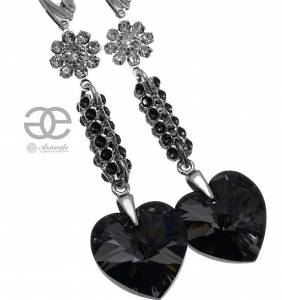 NIGHT CRYSTALLIZED EARRINGS SWAROVSKI CRYSTALS