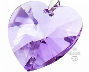 SWAROVSKI BEAUTIFUL LARGE VIOLET PENDANT STERLING SILVER 925