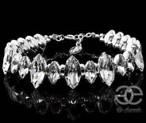 SWAROVSKI BEAUTIFUL WEDDING BRACELET CRYSTAL NAVI STERLING SILVER