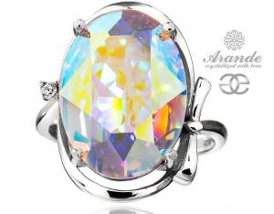 SWAROVSKI BEAUTIFUL RING AURORA SPECIAL STERLING SILVER