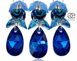 SWAROVSKI BEAUTIFUL JEWELLERY SET BLUE ZODIAC STERLING SILVER