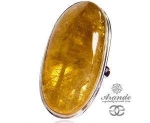 CITRINE NATURAL BEAUTIFUL RING STERLING SILVER SIZE 10-20