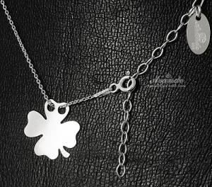 NECKLACE CLOVER TRENDY COLLECTION STERLING SILVER 925 CELEBRITY