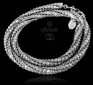 NEW SWAROVSKI GENUINE BRACELET NECKALCE *CRYSTALLIZED* STERLING SILVER 925