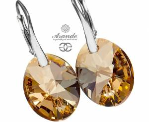 NEWEST SWAROVSKI BEAUTIFUL EARRINGS XILION GOLDEN SHADOW STERLING SILVER