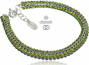 SWAROVSKI BEAUTIFUL BRACELET PERIDOT CRYSTALLIZED STERLING SILVER