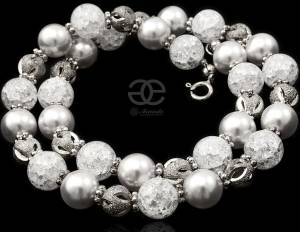 CRYSTAL WHITE NECKLACE NEW BEAUTIFUL SWAROVSKI PEARL