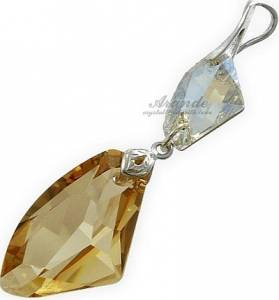 SWAROVSKI BEAUTIFUL PENDANT GOLDEN CRYSTAL STERLING SILVER 925
