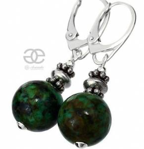 TURQUOISE AFRICAN EARRINGS SILVER