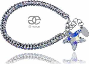 SWAROVSKI GENUINE BRACELET *AURORA CRYSTALLIZED STAR* STERLING SILVER 925