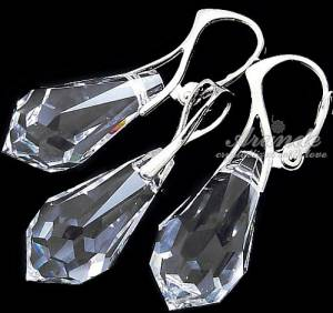EARRINGS+PENDANT SWAROVSKI CRYSTALS DROP STERLING SILVER CERTIFICATE