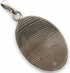 STRIPED FLINT BEAUTIFUL PENDANT STERLING SILVER