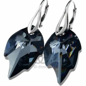 SWAROVSKI EXCLUSIVE EARRINGS NIGHT LEAF STERLING SILVER