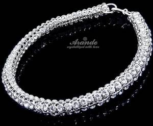 NEW SWAROVSKI CRYSTALS GENUINE BRACELET *CRYSTALLIZED* STERLING SILVER