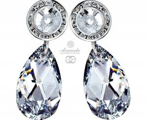 SWAROVSKI UNIQUE LARGE EARRINGS COMET STERLING SILVER 925