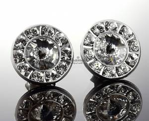 SWAROVSKI UNIQUE EARRINGS CRYSTAL PARIS RING STERLING SILVER 925