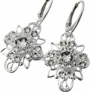 SWAROVSKI BEAUTIFUL WEDDING EARRINGS CRYSTAL VENUE STERLING SILVER