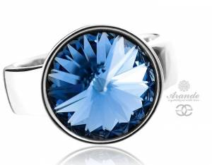 SWAROVSKI BEAUTIFUL RING *SAPPHIRE PARIS* STERLING SILVER 925