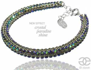 CRYSTALLIZED BEAUTIFUL BRACELET PARADISE SHINE SWAROVSKI CRYSTALS STERLING SILVER