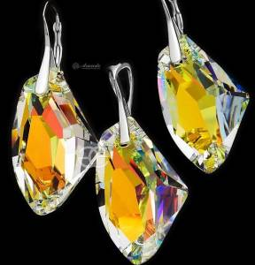 SWAROVSKI EARRINGS PENDANT GALACTIC AURORA STERLING SILVER 925