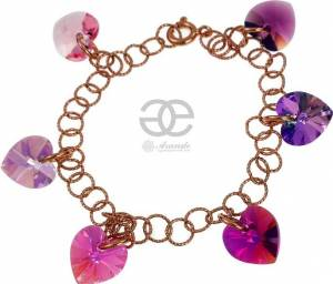 SWROVSKI CRYSTALS BRACELET MIX HEARTS ROSE GOLD