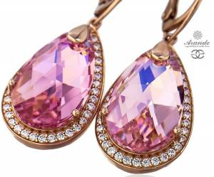 SWAROVSKI BEAUTIFUL EARRINGS ENCANTE ROSE GOLD PLATED