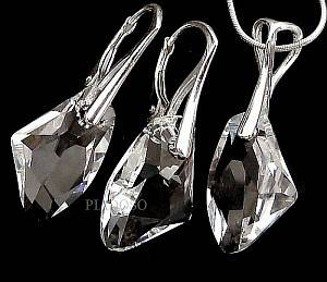 GENUINE SWAROVSKI CRYSTALS SET 925 SILVER STERLING