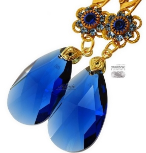 Bestseller: Kolczyki Swarovski Blue Feel Gold