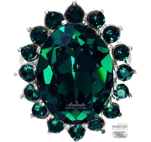 Bestseller: Pierścionek Swarovski Emerald Srebro